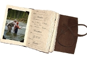 Lodge Fishing journal w/ photo tabs