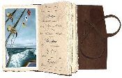Lodge Saltwater fishing journal with plastic sleeves