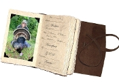 Lodge Turkey Hunting journal w/ photo tabs